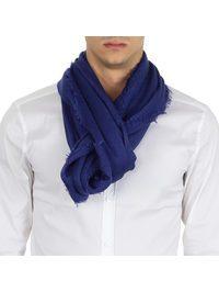 RICHIAMI - Acero electric-blue cashmere and silk scarf