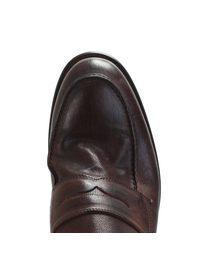DELL'OGLIO - Brown vintage efect loafers