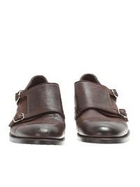 DELL'OGLIO - Dark brown monkstrap shoes