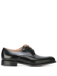 CHURCH'S - Black leather Oxford shoes