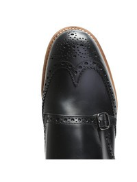 CHURCH'S - Black leather momkstrap