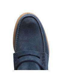 CHURCH'S - Dark blue suede Pembrey loafers
