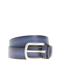 ORCIANI - Lizard effect blue leather belt