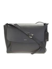 DKNY - Black leather Messenger bag