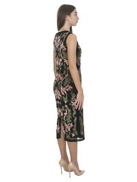 Alice and Olivia - Embellished patches black tulle dress