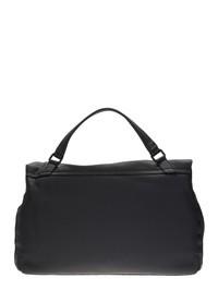 ZANELLATO - Postina large in black leather and cachemire