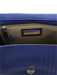 ZANELLATO - Blue leather Postina S Cachemire Blandine bag