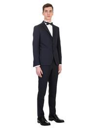 TAGLIATORE - Black virgin wool smoking suit