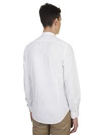 DELL'OGLIO - Pleated detail white cotton shirt