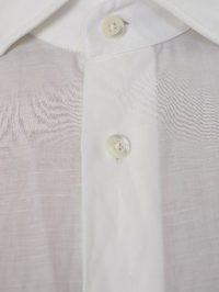 DELL'OGLIO - White linen and cotton shirt