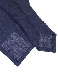 DELL'OGLIO - Blue linen tie
