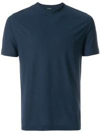 ZANONE - Blue Ice cotton basic T-shirt