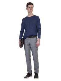 ORIGINAL VINTAGE - Blue linen shirt