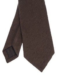 DELL'OGLIO - Brown silk tie
