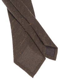 DELL'OGLIO - Brown silk tie