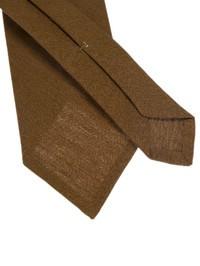DELL'OGLIO - Ochre linen tie