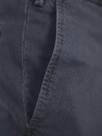 DELL'OGLIO - Grey micro-patterned cotton trousers
