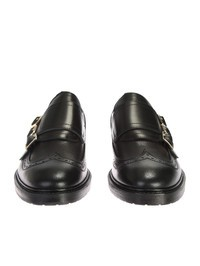 ALEXANDER MCQUEEN - Leather monkstrap shoes