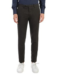 DELL'OGLIO - Micropatterned cotton trousers