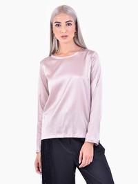 BLANCA - Satin silk blouse