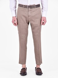 DELL'OGLIO - Cotton and linen trousers