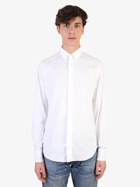 DELL'OGLIO - Stretch cotton blend shirt