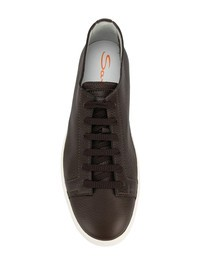 SANTONI - Leather sneakers