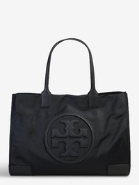 TORY BURCH - Ella leather and fabric tote bag
