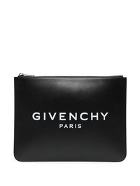 GIVENCHY - Logo print leather pouch