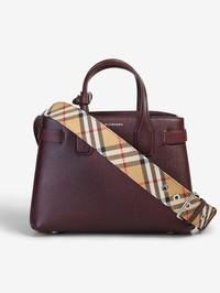 BURBERRY - Small Banner leather bag