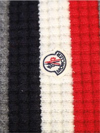 MONCLER - Virgin wool and cashmere scarf