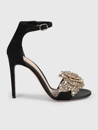 ALEXANDER MCQUEEN - Embellished suede leather sandals