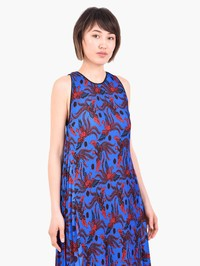 KENZO - Printed pleated dress