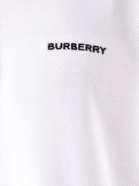BURBERRY - Logo embroidery cotton pique polo