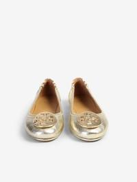 TORY BURCH - Minnie leather ballerina flats