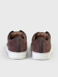 LANVIN - Suede leather sneakers