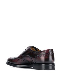 CHURCH'S - Tartan motif leather shoes