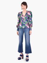 LA DOUBLE J - Printed silk twill blouse