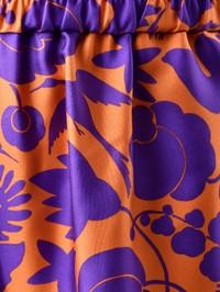 LA DOUBLE J - Floral print silk trousers