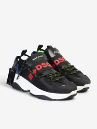 DSQUARED2 - Mesh and leather sneakers
