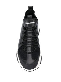 DSQUARED2 - Leather and knit sneakers