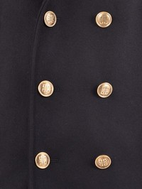 GIVENCHY - Wool and leather jacket