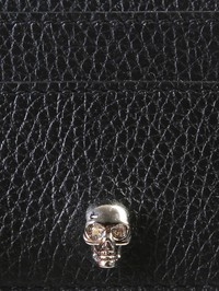 ALEXANDER MCQUEEN - Grained leather card holder
