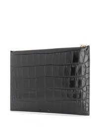 ALEXANDER MCQUEEN - Crocodile print leather clutch