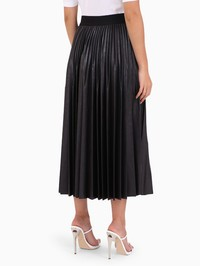 GIVENCHY - Pleated varnished jersey skirt