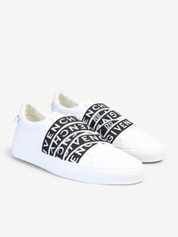 GIVENCHY - Logo bands leather sneakers