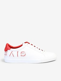 GIVENCHY - Logo insert leather sneakers