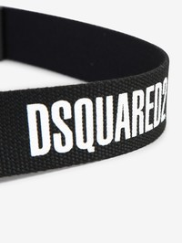 DSQUARED2 - Logo print canvas belt