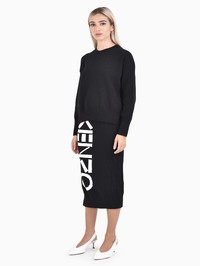 KENZO - Logo intarsia cotton blend sweater