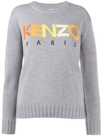 KENZO - Logo embroidery wool sweater
